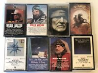 Willie Nelson Country Music Collector Series LOT of 8 audio cassette