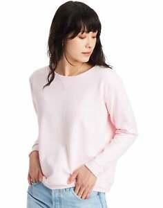 Women's Crewneck Sweatshirt Hanes ComfortSoft EcoSmart Fleece Ribbed Hem Cuffs