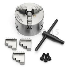 K11-80 3'' Lathe Chuck 80mm 3 Jaw Manual Self-centering CNC Drilling Machine