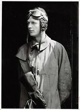 Luftwaffe Deutsche Pilot Flugzeugführer im Fliegerkombi , Fliegerhaube Großfoto
