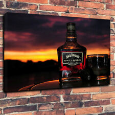 """Jack Daniels Whisky Printed Box Canvas Picture A1.30""""x20"""" 30mm Deep Bar Room"""