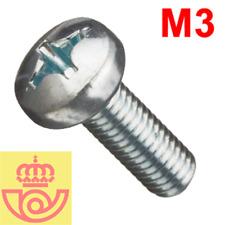 (lote 20pcs) Tornillo acero M3 10mm cabeza Philips (Arduino, prototipos, PCB)