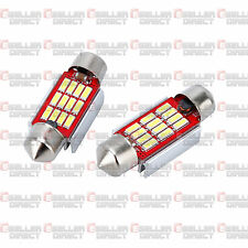 2x 12 SMD LED 36mm 239 272 CANBUS ERROR WHITE NUMBER PLATE LIGHT FESTOON BULB UK