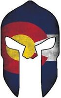 MOLON LABE COLORADO SHAPE FLAG SPARTAN HELMET BUMPER STICKER TOOLBOX STICKER