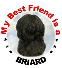 "Briard (Black) Dog - Pack of 2 Car Stickers ""My Best Friend is.."" - By Starprint"