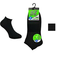 New MEN ARCH SUPPORT TRAINER SOCKS BLACK One Size Pack Of 3 UK 6-11
