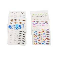 18 Sheets DIY Nail Sticker Flower Plant Sliders Butterfly Feather Manicure Decal