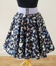 1950s Circle Skirt Size 10 - Butterfly Rockabilly Pin Up Retro Jive Swing Dress