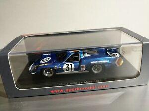 S4701 Spark: 1/43 Alpine Renault A220 #31 Le Mans 1969 Sports Prototype