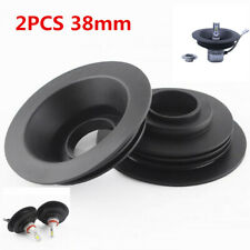 2x 38mm Universal Headlight Seal Dust Seal Cover For Car LED Conversion Kit