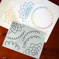 Mandala Stencil Multi option for Dot Painting mandalas template art dotting