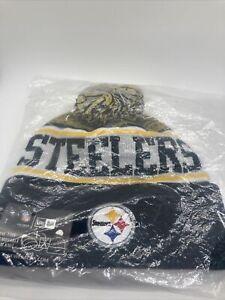 Winter Beanie Hat New Pittsburgh Steelers New Era Knit On Field Sideline Cap USA