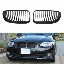 Matte Black Front Kidney Grill Grille For BMW E92 E93 3-Series Coupe 10-15 LCI