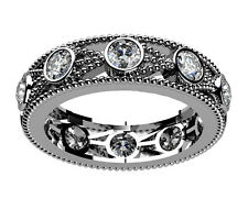 2.00 Ct. TW Round Diamond Eternity Wedding Band in 18 kt Migraine Accented Ring
