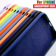 For iPhone 12 Pro Max 11 12 Mini XR XS 8 Plus SE Liquid Silicone Soft Case Cover