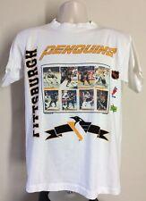 Vtg 1994 Pittsburgh Penguins Upper Deck Hockey Cards T-Shirt White M 90s NHL