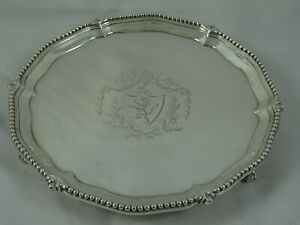 SUPERB, GEORGE III solid silver SALVER, 1776, 220gm
