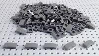 Lego Dark Bluish Grey 1x2x2/3 Curved Slope Brick (11477 / 17134) x15 *NEW* City