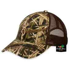 BROWNING BOZEMAN MESH BACK HAT BALL CAP SHADOW GRASS BLADES CAMO BUCKMARK LOGO