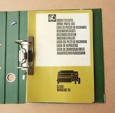 CLAAS Markant 45  Ersatzteilliste Hochdruckpresse 1981 Original