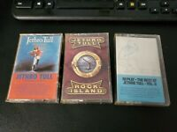 Lot of 3 Audio Cassettes of Classic Rock from JETHRO TULL-Orig Masters/Rock Isl