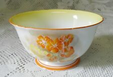 VINTAGE SHELLEY ORANGE YELLOW FLORAL OPEN SUGAR BOWL MADE IN ENGLAND 771299