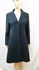 Women's New Kenneth Cole KC Reaction Black Long Wool Coat Size 6 NWT