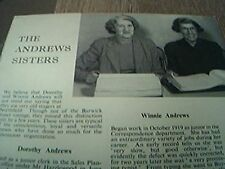 ephemera 1953 kalamazoo dorothy and winnie andrews northfield