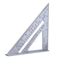 7inch Aluminum Speed Square Triangle Angle Protractor Measuring Tool E0Xc
