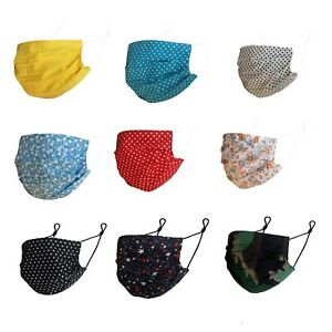 Face Mask Reusable Washable Adjustable Ear loop Adult Fabric Mouth Nose Cover UK