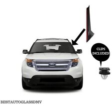11-18 Ford Explorer Windshield Molding Outer Trim Pillar Driver Side With Clips
