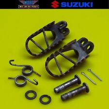 1999 Suzuki RM250 RM125 Footpegs Left Right Foot Pegs Stands 43551-36E01-019