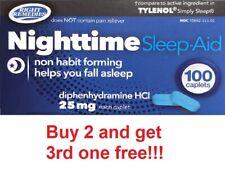 SLEEP AID, Diphenhydramine HCI 25mg 100 tablets