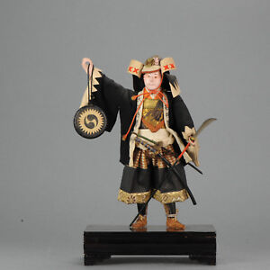 Lovely Japanese Ningyo Doll. Tanaka Doll. Samurai Warrior 19th/20th c