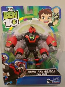 "NEW Ben 10 OMNI-KIX ARMOR - 5"" Action Figure  Playmates Toys #76148 FOUR ARMS"