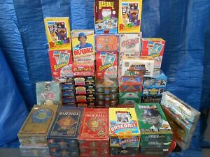 100,000+  BASEBALL CARDS IN UNOPENED PACKS.  VINTAGE 80'S 90'SCARDS!