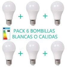 PACK 6 BOMBILLAS 10W LUZ BLANCA O CALIDA E27 BOMBILLA  LED OSSUN AHORRO ENERGIA