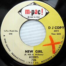 ACCENTS northern soul 45 NEW GIRL / DO YOU NEED A GOOD MAN  e0445