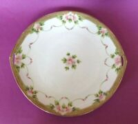 Nippon Noritake - Hand Painted 4 Piece Cake Plate Set - Roses And Moriage Japan