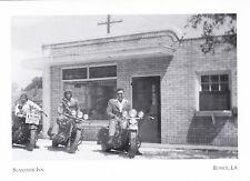 "*Postcard-""3 Bikers @ Sunny Side Inn""(Cafe/1950-60's) *Eunice, LA (#203)"