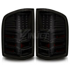 2007 2008 2009 Chevrolet Silverado LED Tail Light Pick Up Truck BLACK SMOKE