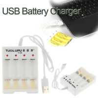 4 Slots USB Fast Charging Li-ion/Ni-MH Battery Charger for AA/AAA Batter Pf