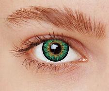 lentilles de couleur bleu turquoise  1 an - contact lenses