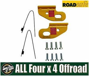 Roadsafe Recovery Tow Point Pair suitable for Patrol GU Landcruiser 80 105