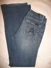 "Womens 7 For All Mankind 7FAMK  A Pockets ""Bling"" Jeans  Size 28"
