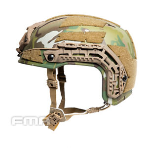 FMA Airsoft Caiman Helmet w/ NVG Shroud Rail Paintball Hunting Airsoft L/XL Camo