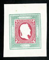 France Stamps XF Rare Napoleon bi-color essay