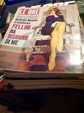LE ORE N17 1965 NATALIE WOOD FELLINI GIULIETTA MASINA INVICTA TORINO SANDRA MILO