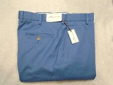 Peter Millar Raleigh Washed Twill Pima Cotton Pant NWT $125 35 x 36 Admiral Blue