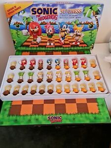 SUPER RARE Sonic The Hedgehog 3D Chess Collector Game Sega video game characters